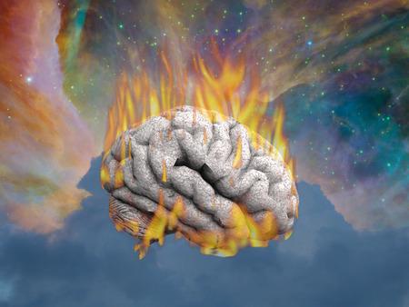 Burning Mind Stock Photo