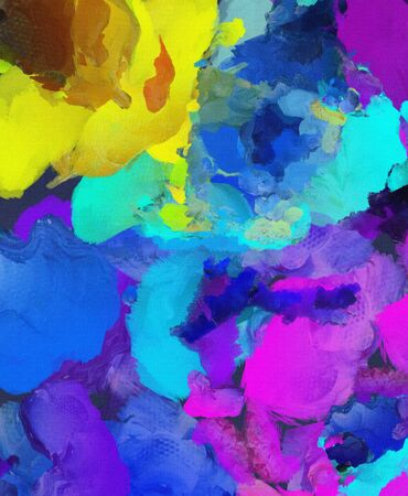 abstract paintings: Colorful abstract painting. Stock Photo