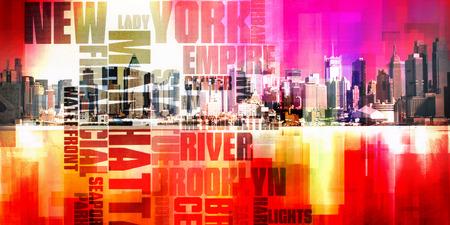 Modern Abstract, Manhattan Stock Photo