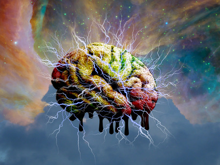metaphysical: Psychedelic mind melt Stock Photo