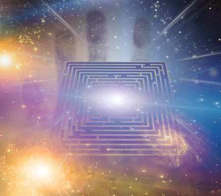 Maze stars and other elements Stock Photo