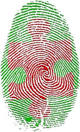crime solving: Fingerprint with Puzzle