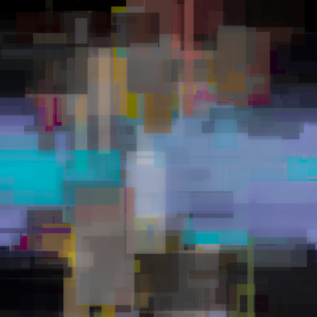 muted: Abstract geometric painting. Stock Photo