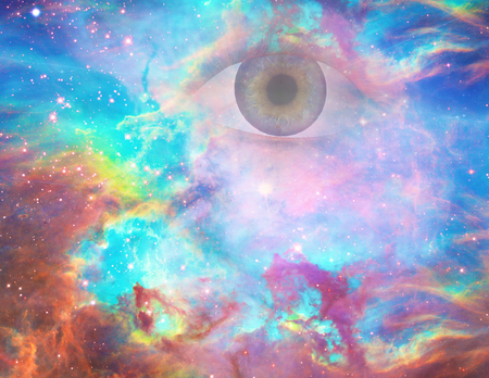 Gods eye in vivid universe.