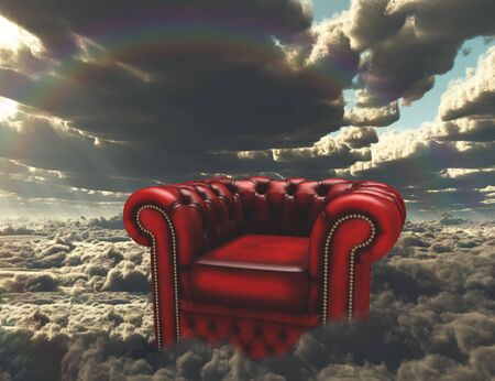 unreal unknown: Armchair on a clouds.