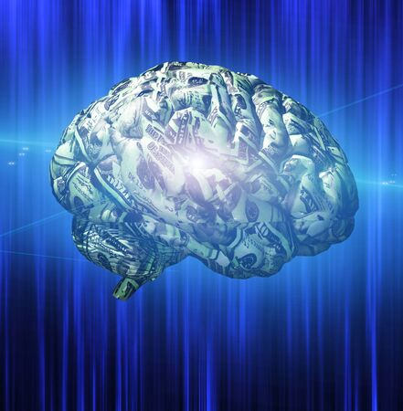 minded: Brain composed of US Currency