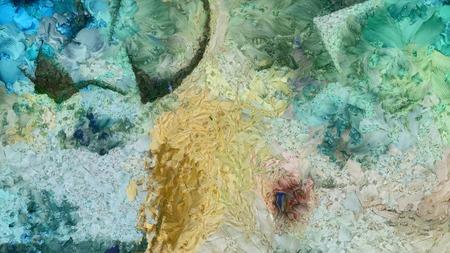 cuadros abstractos: Colorida pintura abstracta Foto de archivo