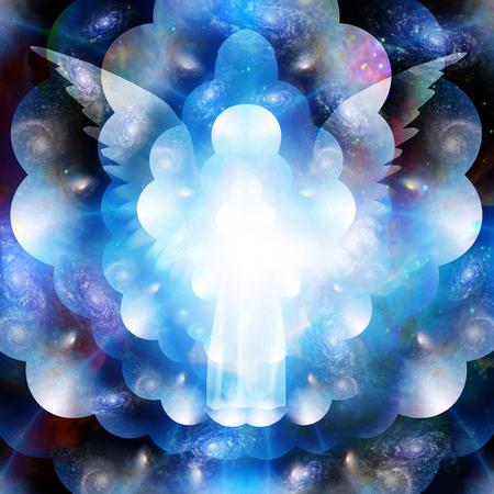 proteccion: silueta espiritual en el Espacio