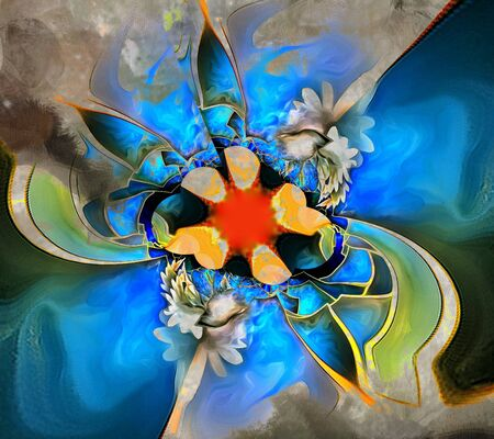vivid colors: Abstract flower. Vivid colors.