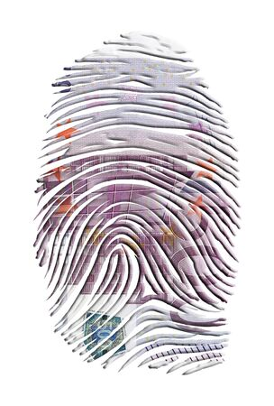 theft proof: Euro Finger Print Stock Photo