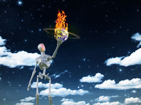 unreal unknown: Alien bringing fire in universe