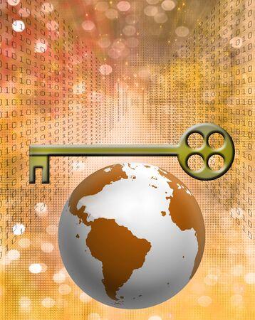 地球のバイナリ コードとキー
