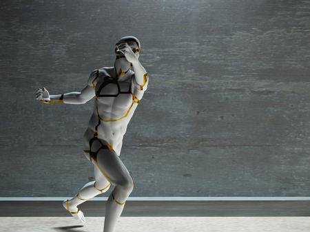 anatomie humaine: Rendu 3D. Le chiffre d'hommes de pierre. Banque d'images