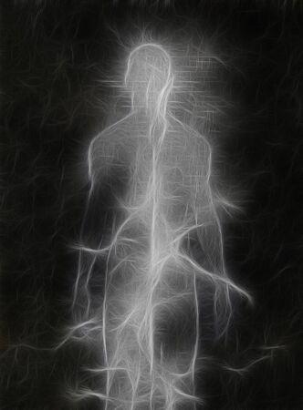 spirtual: Abstract figure design