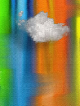 Cloud on multi color canvas.