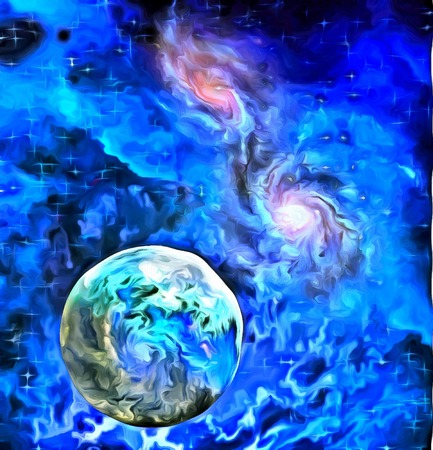 pintura abstracta: Exo-Solar Planet Painting