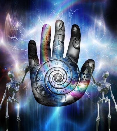 human hand: Human hand machine and robots
