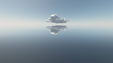 solitary: Water with single cloud