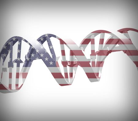 national colors: DNA chain in national colors.