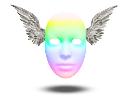 psique: máscaras del arco iris Foto de archivo