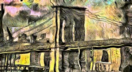 canvas art: Vincent Van Gogh Style Stock Photo