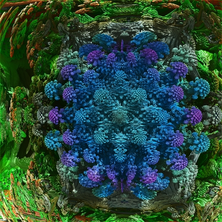 cerulean: Vivid fractal. Stock Photo
