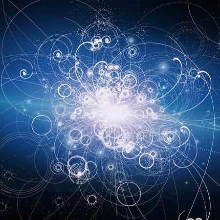 positron: Atomic Elements Particle Accelerator Illustration