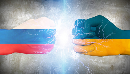 against the war: Ukraine vs Russia Stock Photo