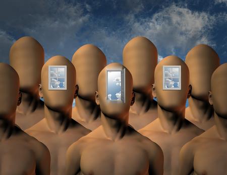 cielos abiertos: Aperturas a la mente Foto de archivo