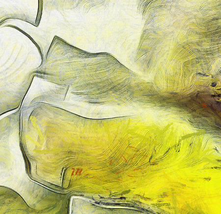 pintura abstracta: Abstract painting in muted colors. Fluid lines. Foto de archivo