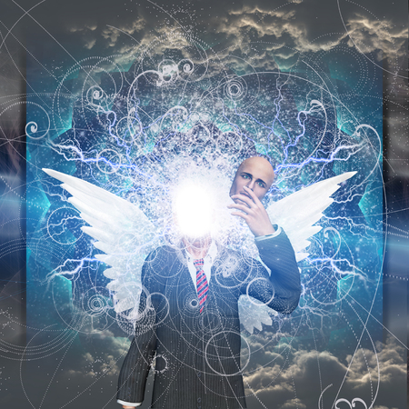 reveals: Angelic being reveals light