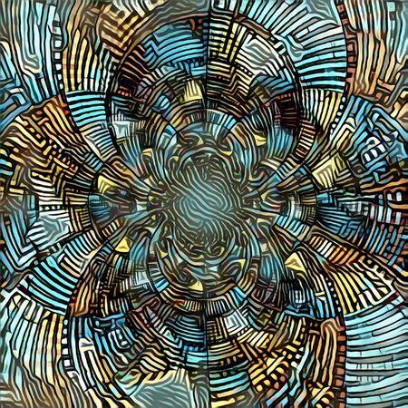 mirrored: Abstract circles. Fractal.