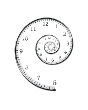 Spiral of time. Stock Photo