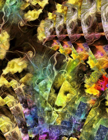 multi layered: Colorful multi layered abstract. Stock Photo
