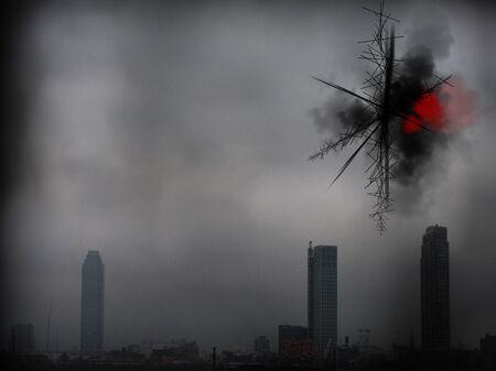 Mystical smog over the city.