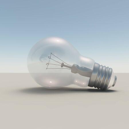 brightness: 3d render. Light bulb.