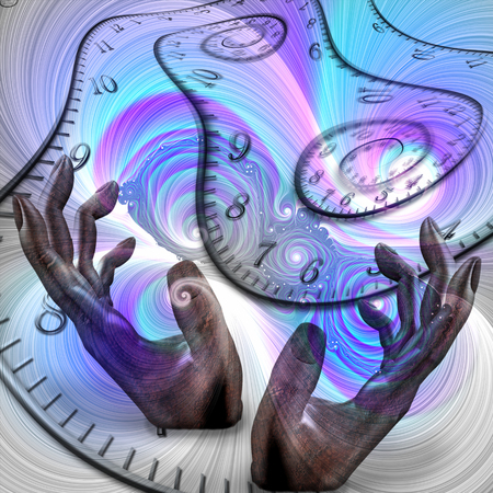 Manipulation of time Stock Photo