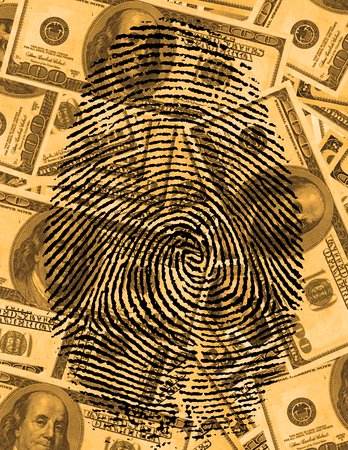 theft proof: finger Print and USA Currency