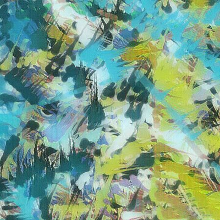 Abstract painting. Brush strokes. 3D rendering.