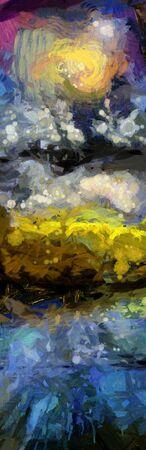抽象的な油絵。風景 写真素材