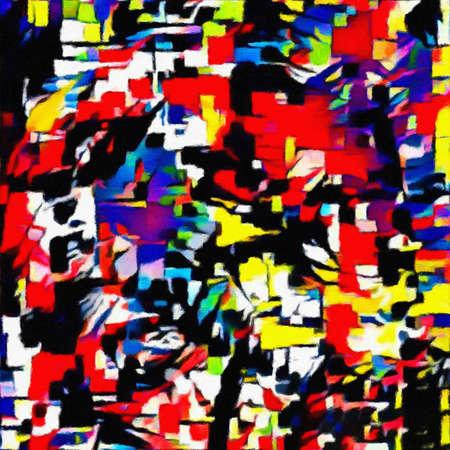 Abstract schilderij. Penseelstreken.
