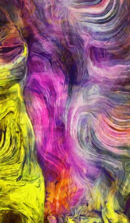 Swirling Vivid Colors Abstract. 3D rendering.