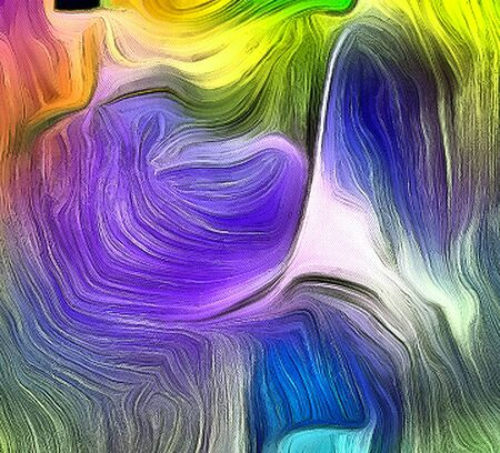Vivid Colorful Fluid lines of movement. 3D rendering.