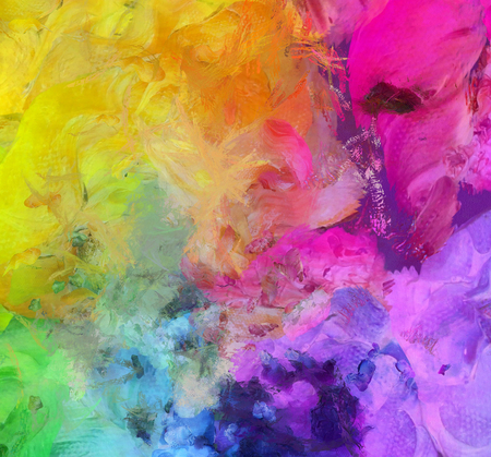 Bright Colorful Abstract Painting. 3D rendering Banque d'images
