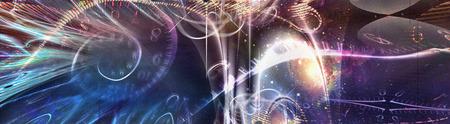 Space Time Illustration. Gravity. 3D rendering 版權商用圖片