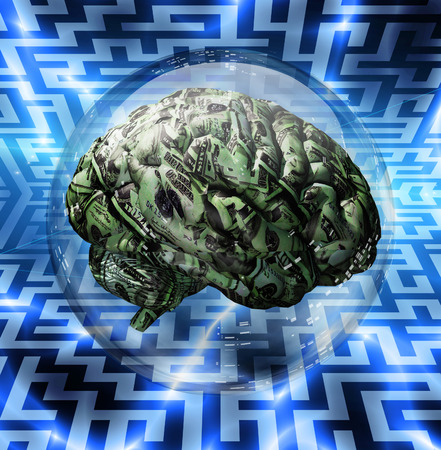 Financial Brain and Maze background