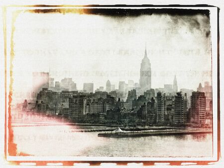 Retro photo. View of Manhattan Stock Photo