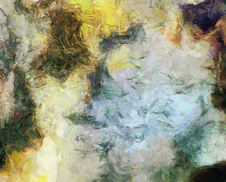 Abstract painting, Swirling Brush Strokes. Vincent Van Gogh Inspired