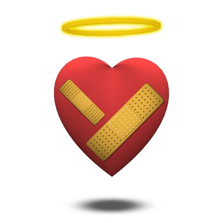 Good but wounded heart Stock Photo