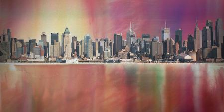 Modern Art. Manhattan cityscape